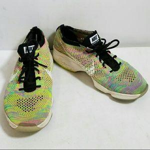NIKE Flyknit Zoom multicolor sneakers 8.5